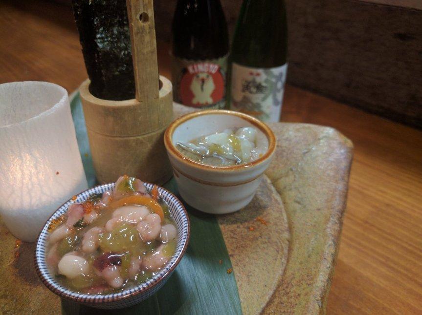 Kingyo Izakaya Tako Wasabi and Sake